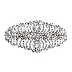 Mood - Silver crystal curved hair clip