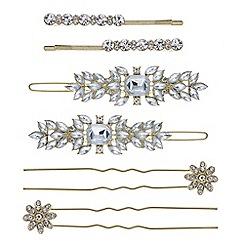 Mood - Gold crystal hair slide set