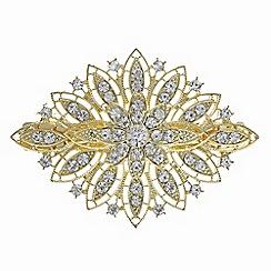 Mood - Gold crystal ornate hair clip