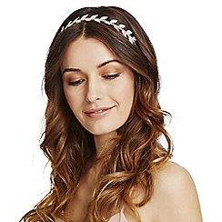 Mood - Gold crystal leaf headband