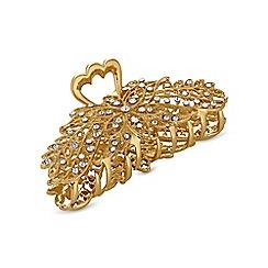 Mood - Gold crystal hair clamp clip