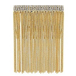 Mood - Gold crystal chain fringed hair comb