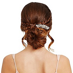 Mood - Silver pearl floral hair comb