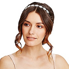 Mood - Silver crystal diamante ornate headband