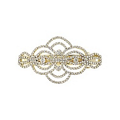 Mood - Gold diamante swirl hair clip