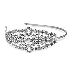 Mood - Silver crystal side detail headband