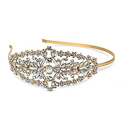 Mood - Gold crystal side detail headband
