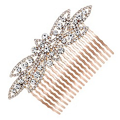 Mood - Rose gold crystal hair comb