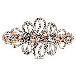 Mood - Rose gold crystal swirl hair clip