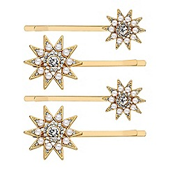Mood - Pearl and crystal star hair slide set