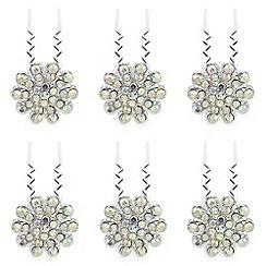 Mood - Aurora borealis crystal hair pins