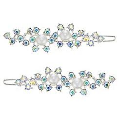 Mood - Pearl and crystal hair slide set