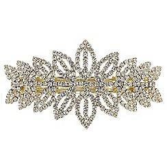 Mood - Diamante leaf hair clip