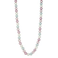 Mood - Pink pearl tonal long rope necklace