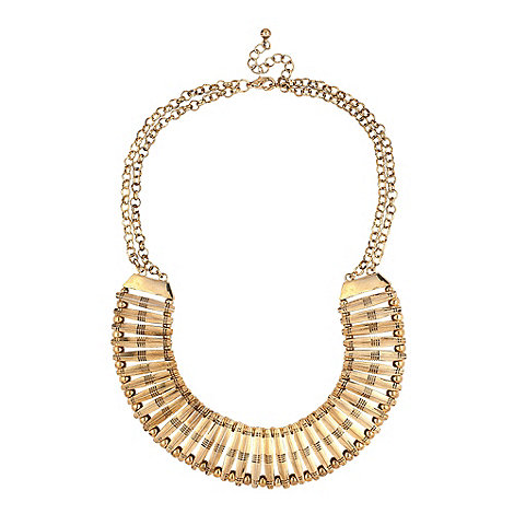 Mood - Statement gold panel and ball round necklace