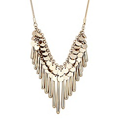 Mood - Multi gold disc cascade drop necklace