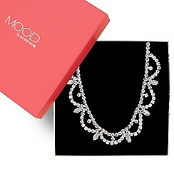 Mood - Diamante crystal and navette stone curved necklace