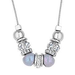 Mood - Multi bead and crystal disc necklace
