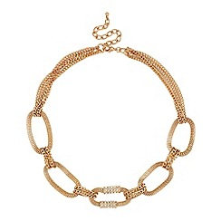 Mood - Crystal and gold mesh link necklace