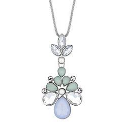 Mood - Multicoloured facet stone peardrop necklace