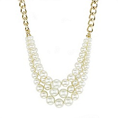 Mood - Cream pearl triple row necklace