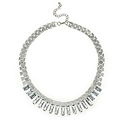 Mood - Crystal baguette stick drop necklace