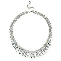 Mood - Crystal baguette stick drop necklace