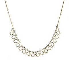 Mood - Diamante crystal gold lattice effect necklace