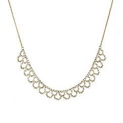 Mood - Diamante crystal gold lattice effect necklace
