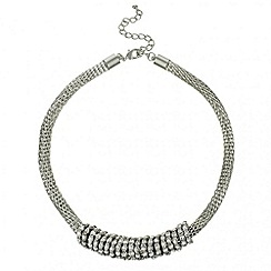 Mood - Crystal multi disc mesh chain necklace