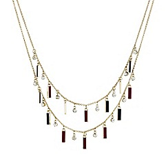 Mood - Enamel mini stick double row necklace
