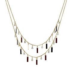 Mood - Enamel mini stick double row necklace