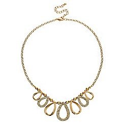 Mood - Polished gold and crystal teardrop necklace