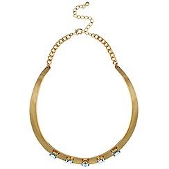 Mood - Rose gold crystal set torque necklace