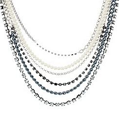 Mood - Online exclusive pearl and chain multirow necklace