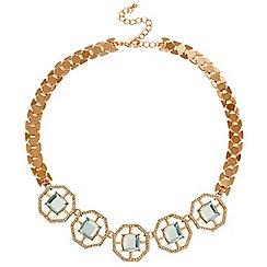 Mood - Rose gold crystal octagon link necklace