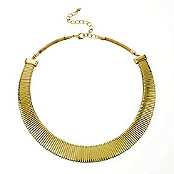 Mood - Polished gold expander chain necklace
