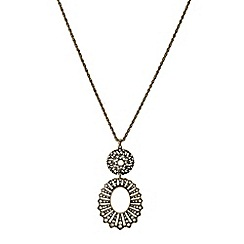 Mood - Double crystal embellished drop necklace