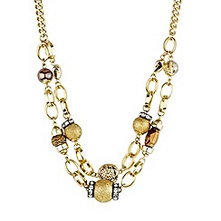 Mood - Double row bead and chain link necklace