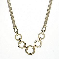 Mood - Multi disc and gold mesh chain necklace