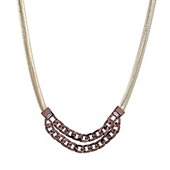 Mood - Double row chocolate curb chain necklace