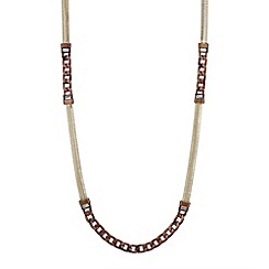 Mood - Chocolate curb chain long necklace