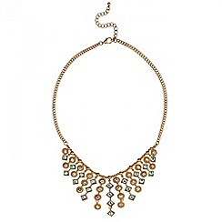 Mood - Statement crystal stone graduated drop necklace