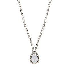 Mood - Opalesque peardrop diamante surround necklace