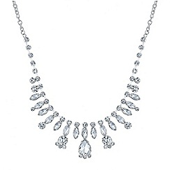 Mood - Mini crystal navette drop necklace