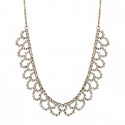 Mood - Rose gold diamante crystal loop necklace