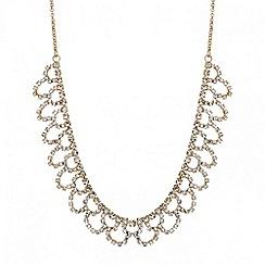 Mood - Rose gold diamante crystal loop necklace