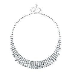 Mood - Diamante crystal graduated collar necklace