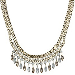 Mood - Statement multi chain and navette drop necklace