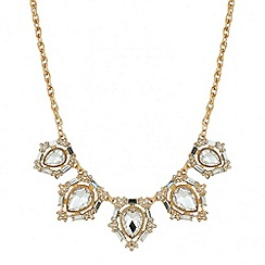 Mood - Peardrop and baguette stone surround necklace